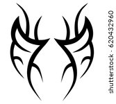 tattoo sketch tribal vector... | Shutterstock .eps vector #620432960