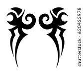 tattoo sketch tribal vector... | Shutterstock .eps vector #620432978