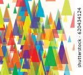 vector background of triangles  ... | Shutterstock .eps vector #620434124