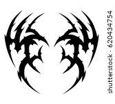 tattoo sketch tribal vector...   Shutterstock .eps vector #620434754