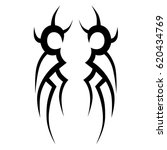 tattoo sketch tribal vector... | Shutterstock .eps vector #620434769
