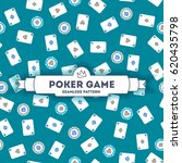 poker game. vector seamless... | Shutterstock .eps vector #620435798