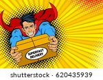 pop art superhero. young... | Shutterstock .eps vector #620435939