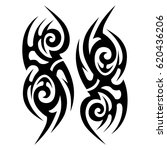 tattoos sketch tribal vector... | Shutterstock .eps vector #620436206