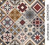 seamless ceramic tile with... | Shutterstock .eps vector #620442434