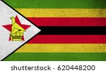 zimbabwe flag with grunge... | Shutterstock . vector #620448200