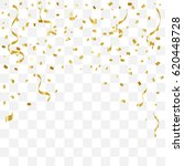 many falling golden tiny... | Shutterstock .eps vector #620448728