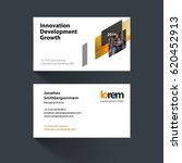 vector business card template... | Shutterstock .eps vector #620452913