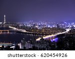 night at seoul korea  | Shutterstock . vector #620454926