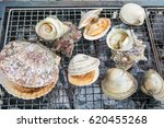 char grilled seafood | Shutterstock . vector #620455268