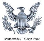 silver steel metal american... | Shutterstock .eps vector #620456900