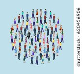 big people crowd on white... | Shutterstock .eps vector #620456906