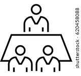meeting vector icon | Shutterstock .eps vector #620458088