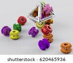 3d rendering gear metal... | Shutterstock . vector #620465936