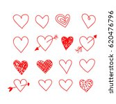 hand drawn heart | Shutterstock .eps vector #620476796