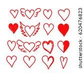 hand drawn heart | Shutterstock .eps vector #620476823
