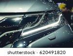 headlight of a modern luxury... | Shutterstock . vector #620491820