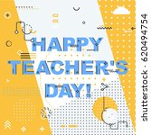 teachers day holidays card... | Shutterstock .eps vector #620494754