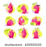 vector collection of flat funny ... | Shutterstock .eps vector #620503220