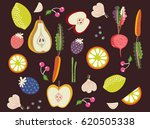 vector collection of fresh... | Shutterstock .eps vector #620505338