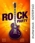 vector rock party flyer design...   Shutterstock .eps vector #620509163