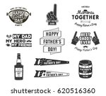 happy father's day badges and... | Shutterstock .eps vector #620516360