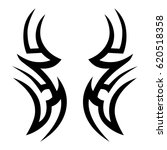 tattoo tribal vector designs.... | Shutterstock .eps vector #620518358