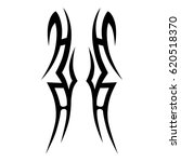 tribal tattoo art designs.... | Shutterstock .eps vector #620518370
