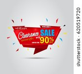 clearance sale banner template...   Shutterstock .eps vector #620519720