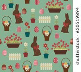 easter seamless pattern....