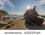 A Huge Sandy Beach With Large...
