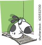 cartoon bad puppy | Shutterstock .eps vector #620532530