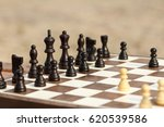 close up wooden chess pieces on ... | Shutterstock . vector #620539586