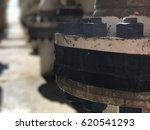 stud bolt on piping process oil ... | Shutterstock . vector #620541293