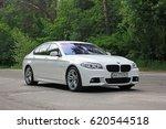 white bmw 520 tdi  f10  m sport ... | Shutterstock . vector #620544518