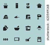 set of 16 editable meal icons.... | Shutterstock .eps vector #620549168
