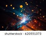 artistic welding sparks light ... | Shutterstock . vector #620551373