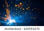 artistic welding sparks light ... | Shutterstock . vector #620551670