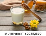 composition with milk and honey ...   Shutterstock . vector #620552810