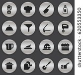 set of 16 editable food icons.... | Shutterstock .eps vector #620553350