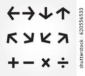 arrow icon set.illustration v.10 | Shutterstock .eps vector #620556533