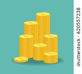 stack of gold coins. the... | Shutterstock .eps vector #620557238