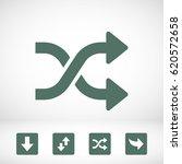 arrow icon stock vector... | Shutterstock .eps vector #620572658