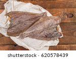 Dried Salty Flounder Fishes On...