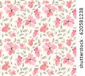 romantic light red floral... | Shutterstock . vector #620581238