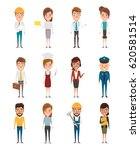 set of people in occupation... | Shutterstock .eps vector #620581514