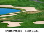 Sand And Water Hazards On A...