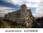 The castle of Krak des Chevaliers - stock photo