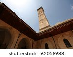 The great mosque in Aleppo - stock photo