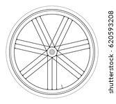 bike wheel   vector... | Shutterstock .eps vector #620593208